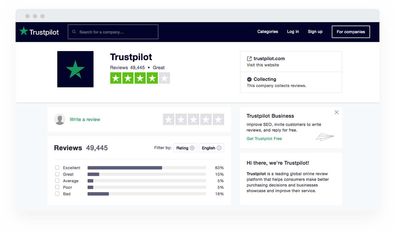 Application Trustpilot